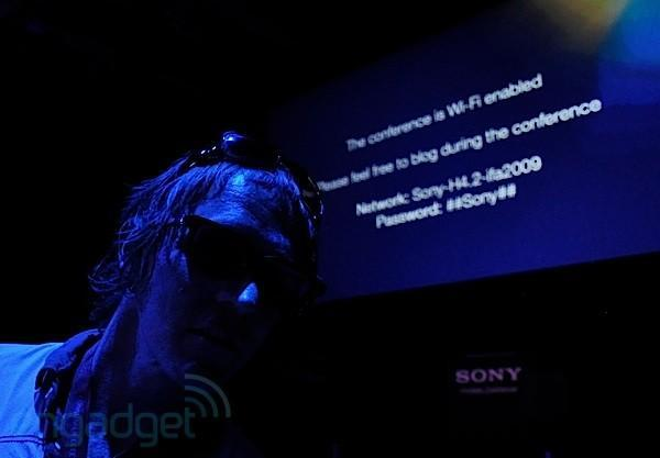 Live from Sony IFA 2009 press event