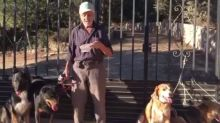 Antes de morir, este hombre con cáncer quiere encontrar un hogar para sus seis perros