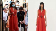 El vestido rebajado de Adolfo Domínguez que estrenó la reina Letizia en Petra