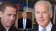Donald Trump asks China to investigate Joe and Hunter Biden