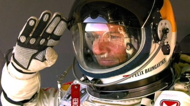 Red Bull Stunt Man Felix Baumgartner: Death-Defying Skydive