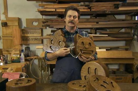Super-sized wooden emoji are Nick Offerman's latest project (update)