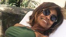 Glória Maria relaxa nas férias e recebe elogios dos fãs