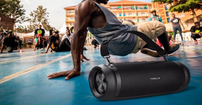The The TREBLAB HD-Max Bluetooth speaker.