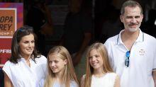 La evolución del posado familiar de los reyes en Mallorca