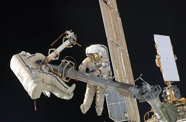 Watch live as two ISS Cosmonauts perform a spacewalk