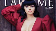 Ariel Winter wears impossibly low-cut dress and fake bangs for new cover