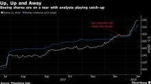 Boeing Analysts Play Catch Up to the Stock's Rally