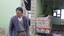 Man Weeps After His Home Was Destroyed in Fatal Earthquake