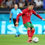 Cristiano Ronaldo ties men's international goalscoring record as Portugal advances at Euro 2020