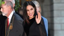 Meghan Markle wears gorgeous black dress for her first solo engagement