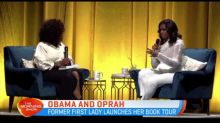 Michelle Obama joined by Oprah during book tour