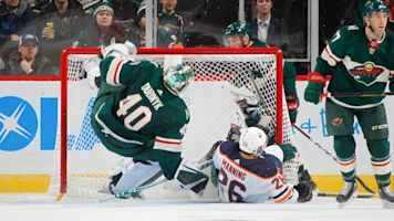 Dubnyk leaves game after violent collision
