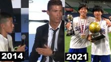 Japanese Boy Bullied for Speaking Portuguese to Cristiano Ronaldo Becomes National Soccer Champion