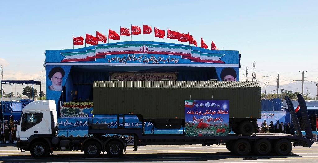 Iran's new Bavar 373 missile defence system was designed to match the Russian S-300 system, pictured, that was suspended while international sanctions were in place