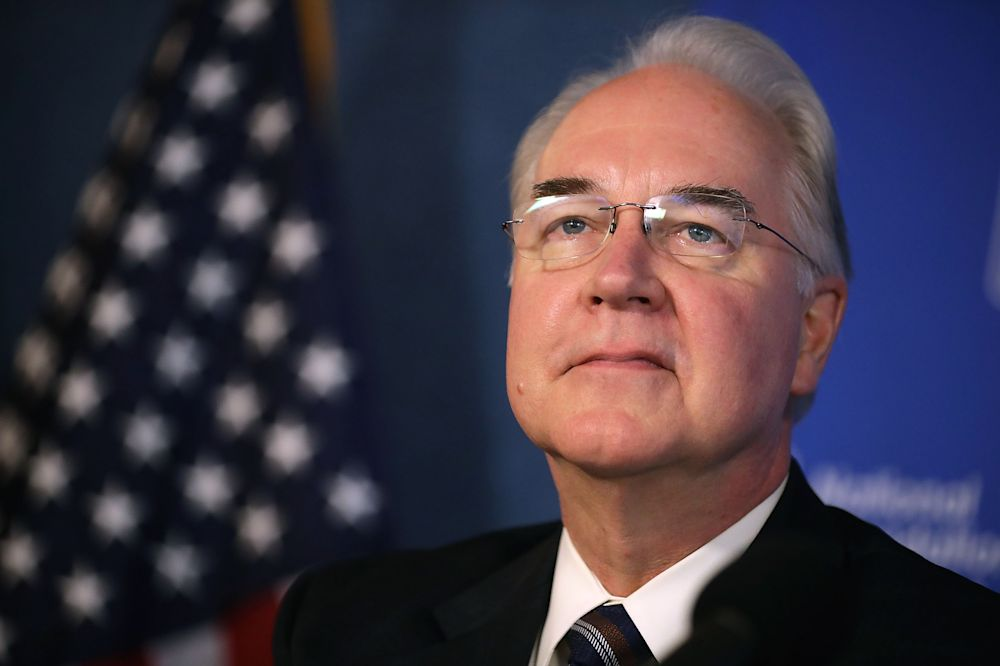 Health and Human Services Secretary Tom Price participates in an event to promote the flu vaccine at the National Press Club, Sept.28, 2017 in Washington. (Photo: Chip Somodevilla/Getty Images)