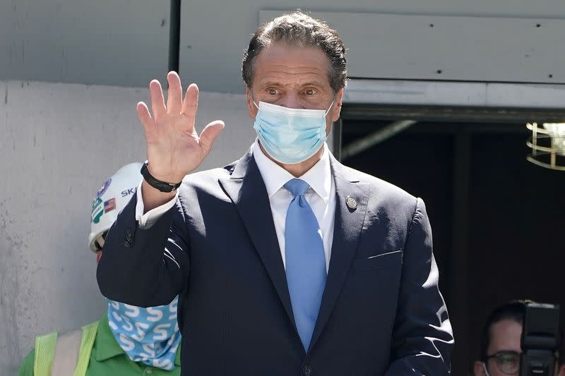 FILE PHOTO: Andrew Cuomo, Governor of New York state at the St. Nicolas National Shrine