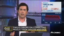 Twilio drops on competing product from Amazon web service...