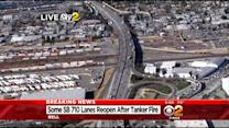 Southbound 710 Freeway Reopens In Bell After Tanker Truck Fire