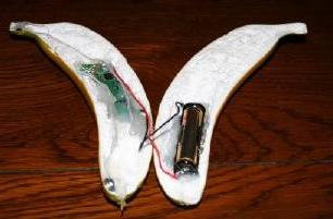 Conceal your Bluetooth headset inside a fake banana