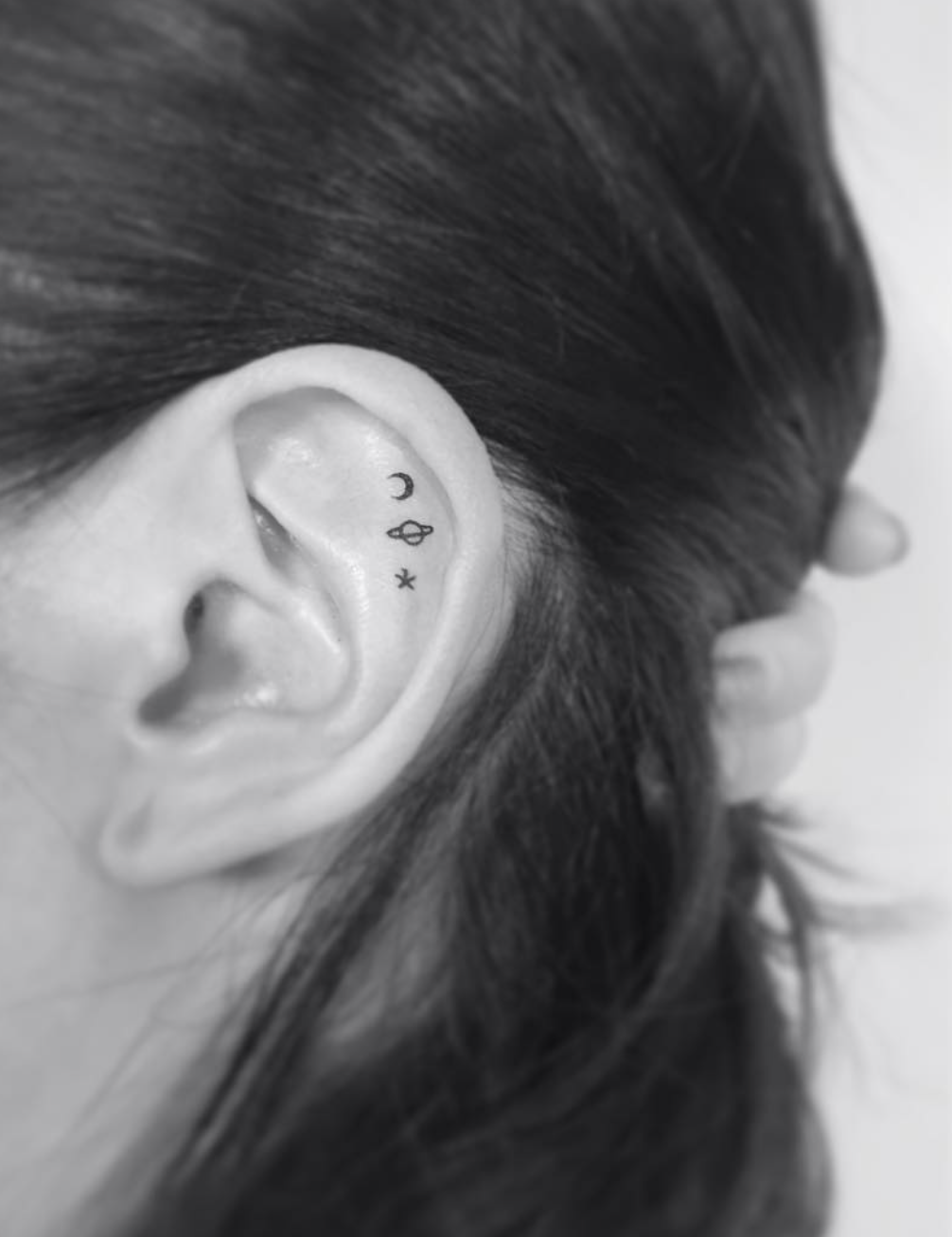 Tiny Inner Ear Tattoos You Ll Want Immediately