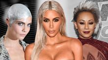 Kim Kardashian, Mel B, and more stars rocking fall's shimmery silver hair color trend