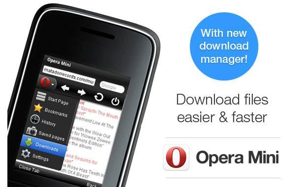 Opera Mini for BlackBerry and feature phones catches up with download manager update