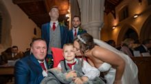 Couple get married in last-minute ceremony after discovering son, 8, has weeks to live