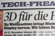 Rumor: 3DS Japanese launch dated Nov. 11 by German tabloid
