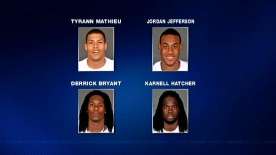 Former LSU players Jefferson, Mathieu, 2 others arrested on drug charges
