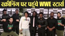 Gully Boy actor Siddhant Chaturvedi host special screening For WWE Superstars