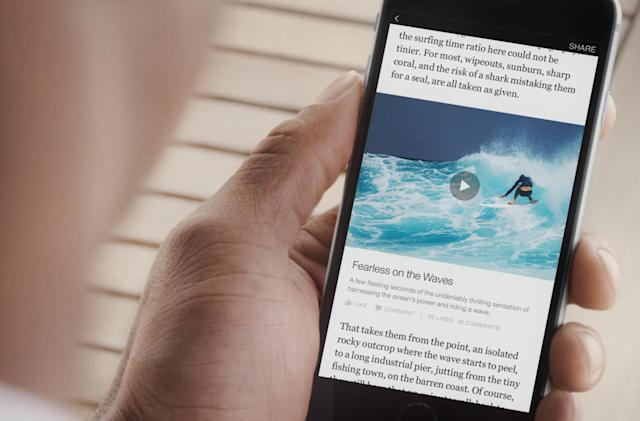 Facebook's Instant Articles now support video ads