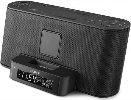 Sony's dark-side: the ICF-C1IP alarm clock and ZS-S2IP boombox iPod docks