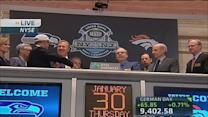 Broncos & Seahawks' execs ring opening bell