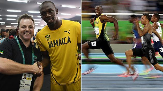 Bolt meets Aussie photographer responsible for iconic image