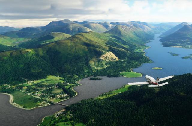 'Microsoft Flight Simulator' update brings better UK and Ireland visuals