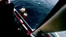 Spanish Coast Guard Video Shows Rescue of Two Migrants Treading Water in Alboran Sea
