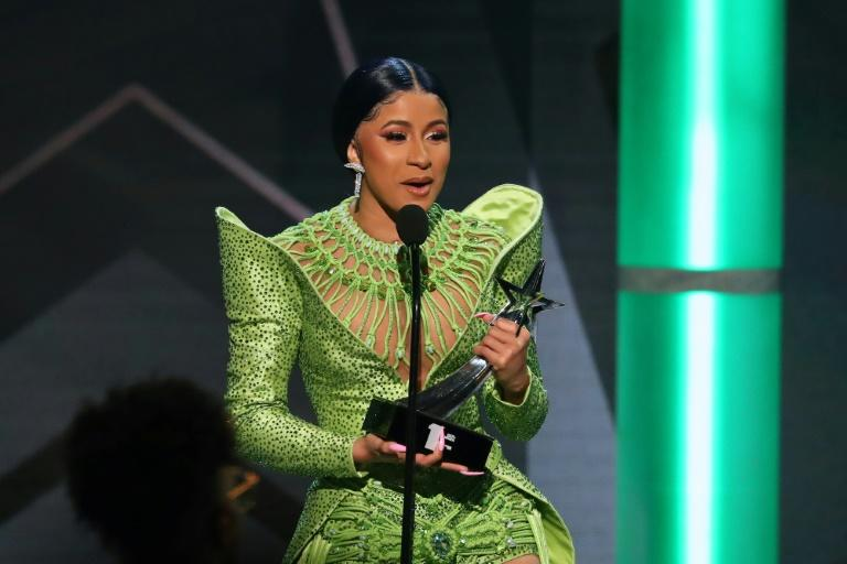 American Rapper Cardi B, shown here accepting the BET award for Album of the Year on June 23, 2019, has been a longtime supporter of Senator Bernie Sanders