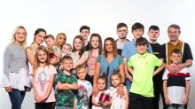 Britain's biggest family share photos of their new baby meeting some of her 21 siblings