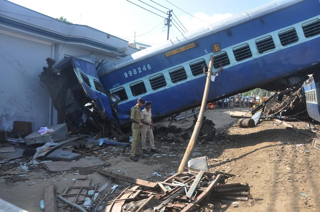 India's crumbling rail infrastructure is in desperate need of modernisation, with a report in 2012 describing the 15,000 deaths on the network each year as a 'massacre' (AFP Photo/-)