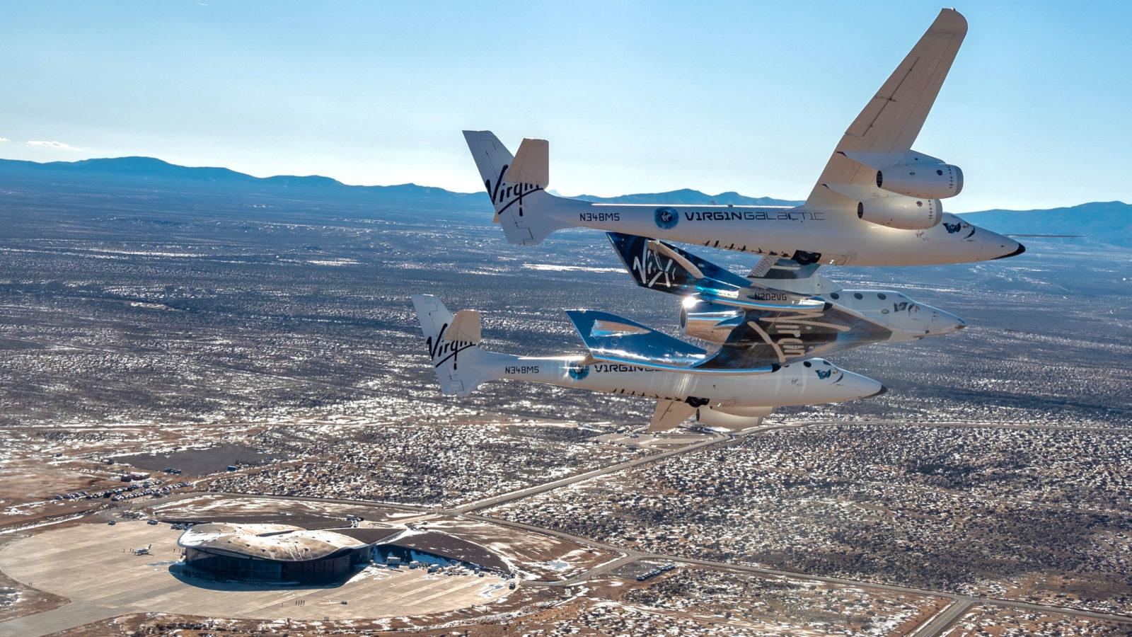 Virgin Galactic relocates SpaceShipTwo 'VSS Unity' to its spaceport for preparations ahead of commercial flights