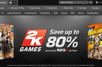 Gamefly launches Digital store, discounts 2K games