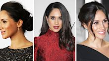 From her famous messy bun to a slick ponytail: The Duchess of Sussex's greatest hairstyles to date