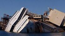 Costa Concordia ready to be flipped upright