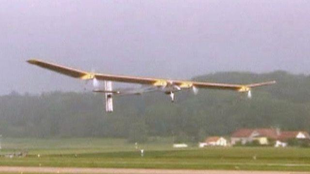 Around the World: Solar-powered plane makes first flight