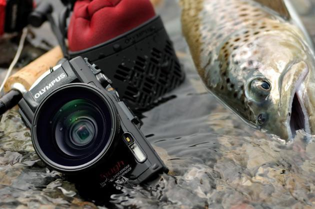 Olympus Stylus Tough TG-3 ships with WiFi and f/2 lens for $350, dead fish sold separately