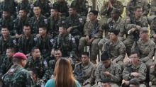 Eating scorpions, worms in Thai/US military drill