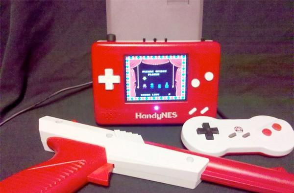 HandyNES mod shrinks console, makes light gun look like light cannon