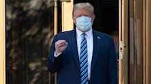 What happens after Trump's release from hospital while battling COVID-19