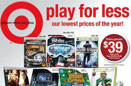 Target puts select titles on sale